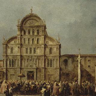 부활절 산 자카리아 성당에서 거행된 베니스 총독의 예배행렬