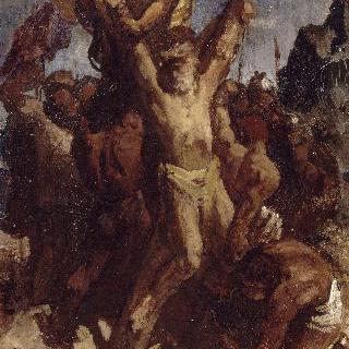 성 안드레아의 순교 (초벌화)