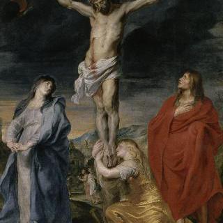 십자가에 못박힌 그리스도와 성모 마리아, 세례 요한, 막달라 마리아