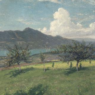 부르제 호수에서 바라본, 사보이의 사과나무