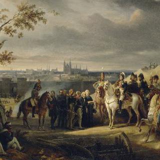 1806년 11월 8일 네 총사령관 앞의 마그데부르그 시의 대장