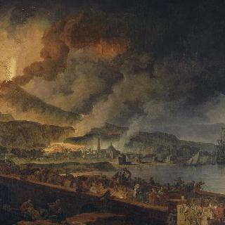 베수비오 화산과 포르티치 풍경
