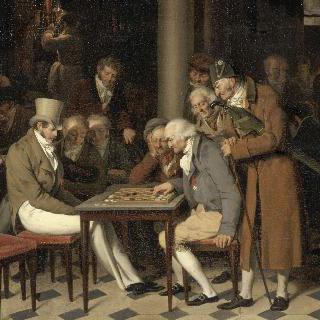 카페의 내부 (팔레 루아얄의 랑블렝 카페의 체스 시합)