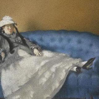 파란 소파 위의 에두아르 마네의 부인의 초상