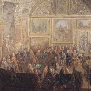 루브르의 회화와 조각 왕실 아카데미의 정례회의