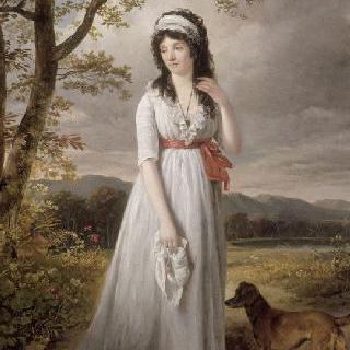 오르탕스 드 보아르네의 초상. 네덜란드 왕 루이 보나파르트의 부인