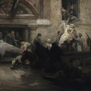 대 애덕 병원의 환자 구조 (1910년 홍수)
