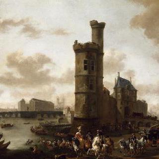 파리의 네슬 문과 탑