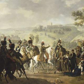 1796년 4월 16일 드고 전투에서 사망한 코스 장군의 죽음과 현장의 보나파르트
