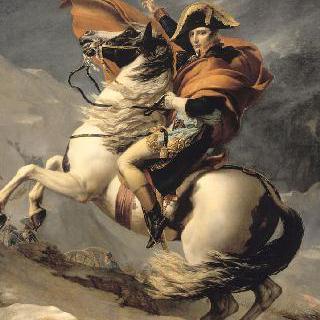 알프스 산맥의 생 베르나르 산을 넘는 제 1집정관 보나파르트(1800년 5월 20일)