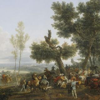 이브리 전투 다음날 뵈브론 평야에서 앙리 4세와 쉴리의 만남