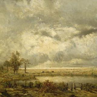 팽뵈프의 루아르 지방의 비옥한 목장