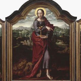 3매화: 성녀 클레어, 사도 성 요한, 성 프랑수아 다시즈