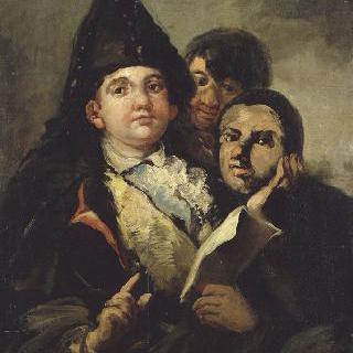 마놀리토 구아스케즈와 톤토 드 코리아 (반신 인물화)