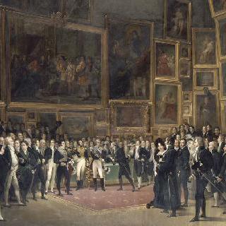 1825년 1월 15일, 1824의 전시 마지막에 예술가들에게 수여하는 상