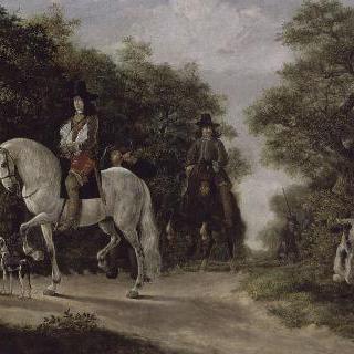 사냥하는 귀족 (기욤 2세 도랑쥬의 초상)
