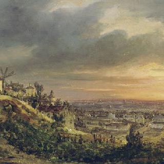 몽마르트 언덕에서 바라본 파리