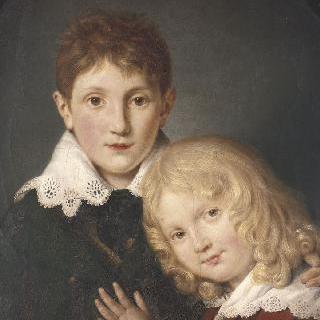 어린 시절의 폴과 알프레도 뮈세