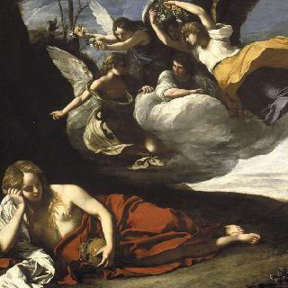 사막의 막달라 마리아를 방문하는 천사들