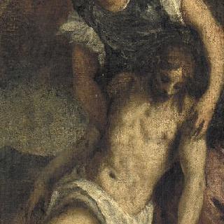 천사의 부축을 받고 있는 죽음을 맞이한 그리스도