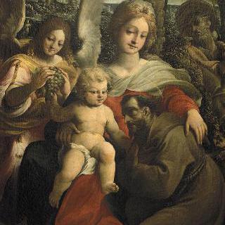 이집트로 피신하던 중 휴식때 아기 예수를 경배하는 성 프랑수아