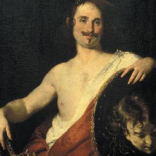 페르세우스로 묘사된 기우리오 스트로치의 초상