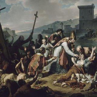 1720년 흑사병이 번지는 마르세유 지방에서 헌신하는 벨쥔스 전하