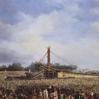 1836년 10월 25일 콩코드 광장의 룩소르 오벨리스크의 설치
