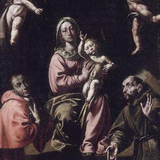 성 샤를 보로메와 성 프랑수아와 함께 있는 아기 예수를 안고 있는 성모