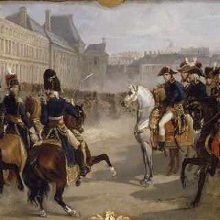 1799년 11월 9일 튈르리 궁 안뜰에서 제 1 집정관의 열병식