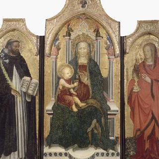 성모, 아기 예수, 성 도미니크와 성녀 막달라 마리아