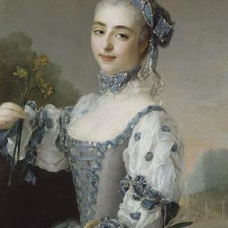 꽃다발을 든 무용수 또는 여배우의 초상