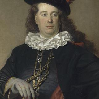 배우 또는 독특한 복장을 한 남자의 초상