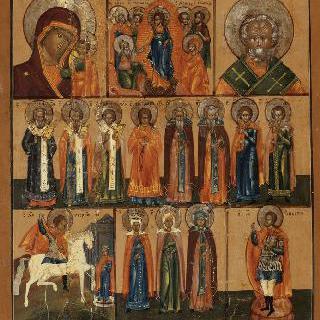 3부 성상 : 아기 예수를 안고 있는 성모, 그리스도의 출현, 성자와 성녀들의 회합