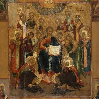성상 : 성자들에게 둘러싸인 전능한 그리스도