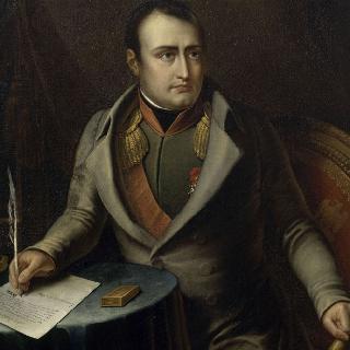 퐁텐블로 성에서 왕위 양위에 서명하는 나폴레옹 1세
