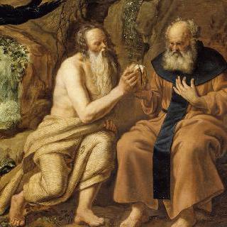 성 앙투안과 은둔자 성 바오르에게 음식을 가져다주는 까마귀