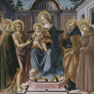 성자들 사이의 성모와 아기 예수