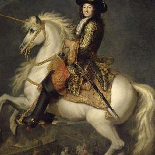 말에 타고있는 프랑스와 나바르의 왕 루이 14세