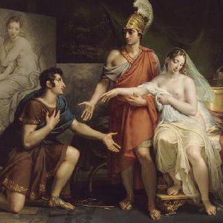 캄파스페를 아펠에게 넘겨주는 알렉산더 대왕