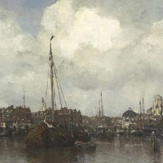 바닷가의 네덜란드 마을