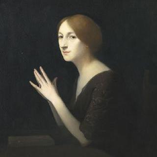 코메디 프랑세즈의 여배우 마르게리트 모레노의 초상