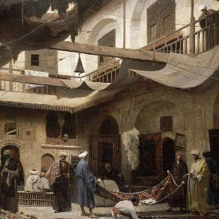 카이로 칸 카빌의 양탄자 시장