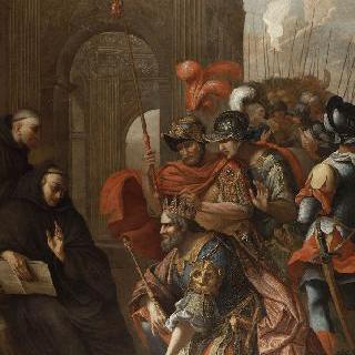 몬테카시노의 성 베네딕트를 방문하는 고트족의 왕 토틸라