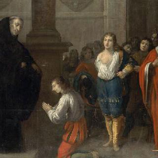 성 베네딕토에게 소개하는 성 마우로와 성 플라시트르