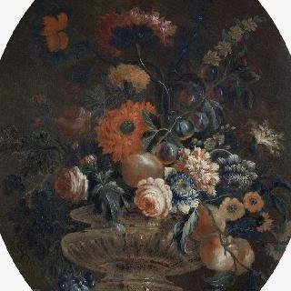 꽃병과 과일