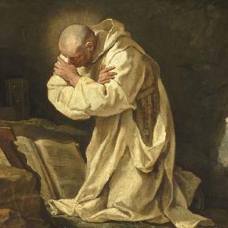 사막에서 기도하는 성 브루노