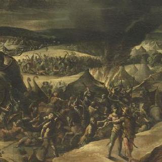 미디안족의 야영지에 불을 지른 기드온