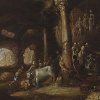 동굴 속 고대 유적의 희생