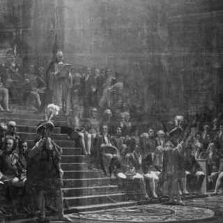 1814년 6월 4일 프랑스 의회 개막을 주재한 루이 18세